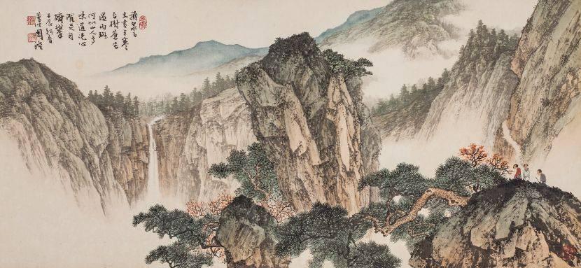 周澄-秋山觀瀑