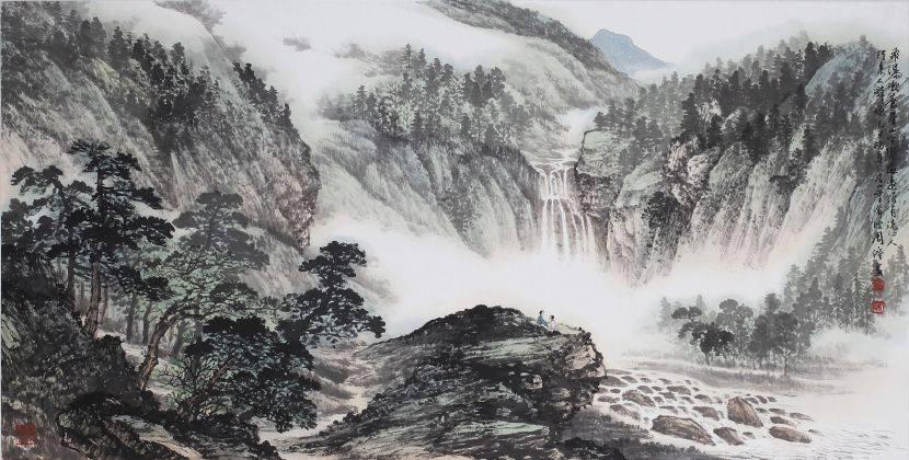 周澄-飛瀑漱崖