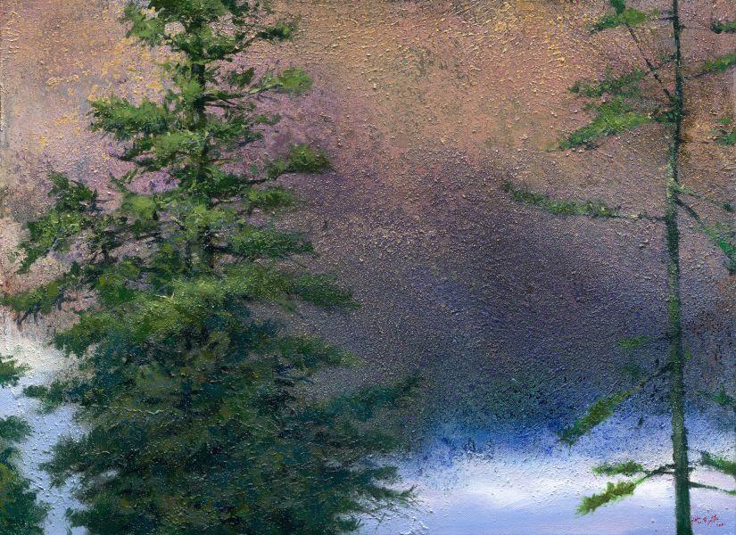 沈東榮-359.松林低語在風中