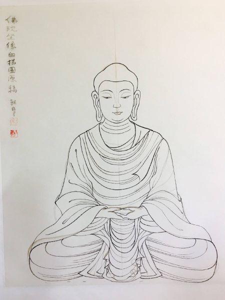 陳朝寶-白描佛陀坐像