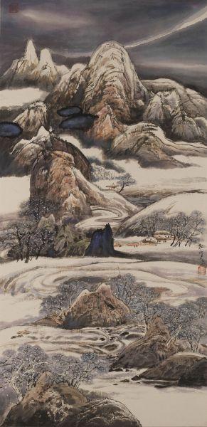 陳朝寶-訪友-嚴冬