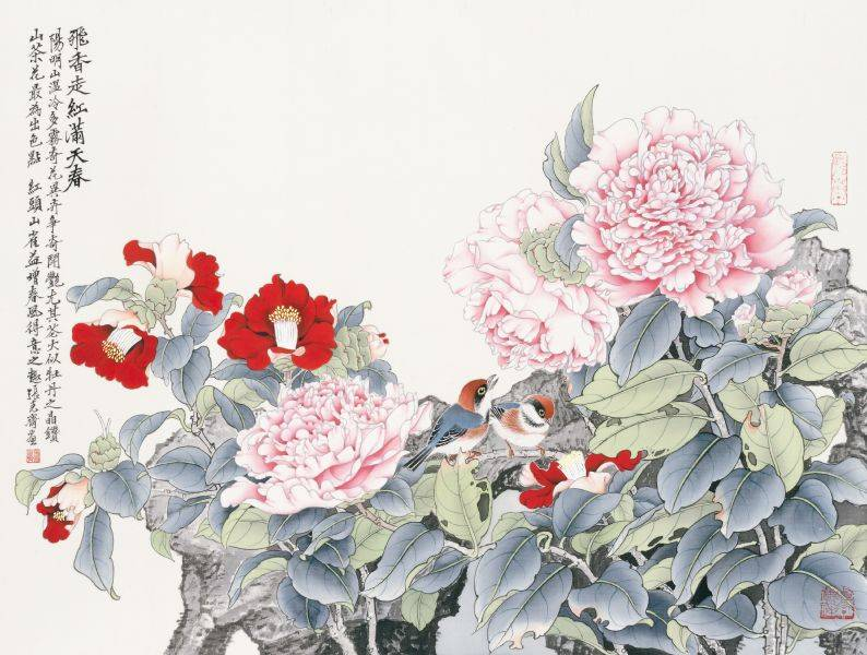張克齊-飛香走紅滿天春