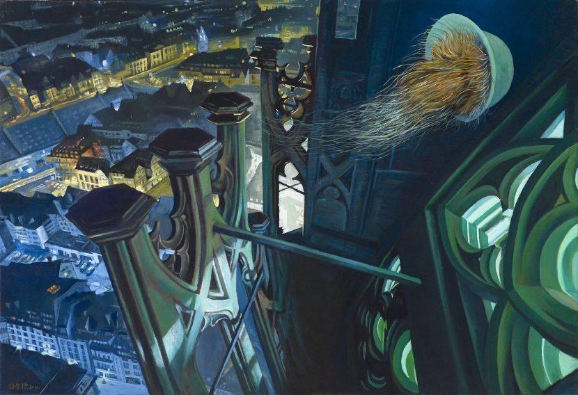 林金標-巴黎聖母院夜空