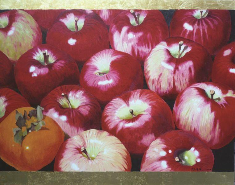 顧重光-十七個大蘋果一個柿子圖