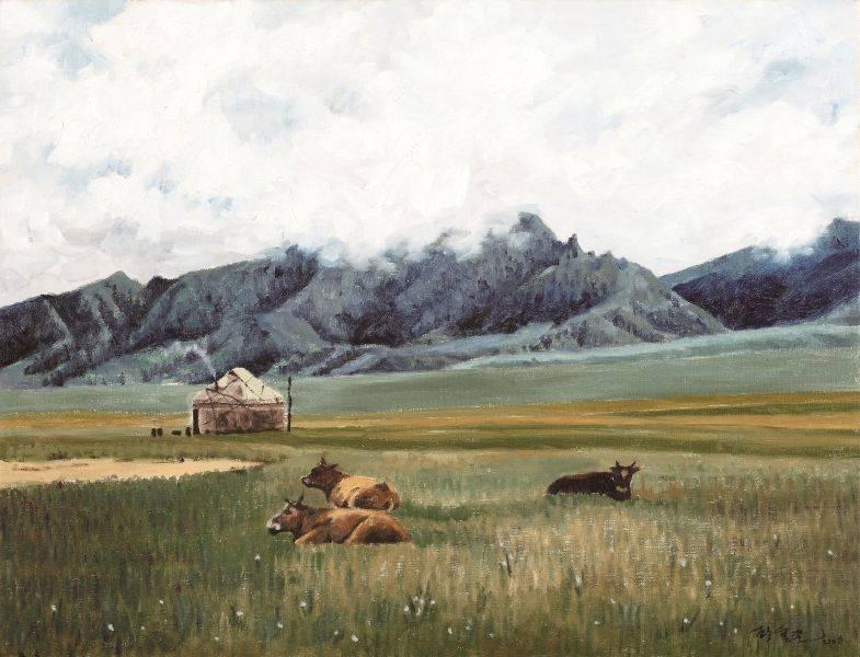 顧重光-伊犁賽里木湖畔牧場