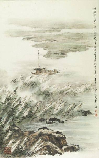 胡念祖-空闊湖水廣