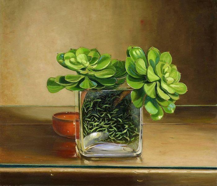 林美蕙-石蓮花的靜物