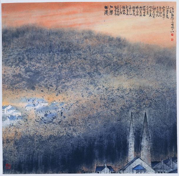 林章湖-山愛夕陽