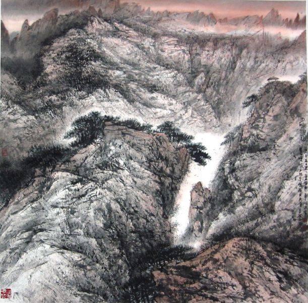 林章湖-夕暉漫山