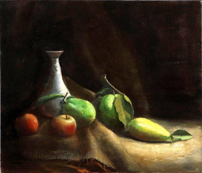 林美蕙-瓶子與水果