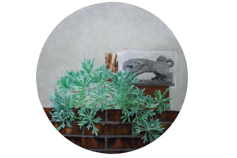 陳秀雯-守護系列~石獅子(母)