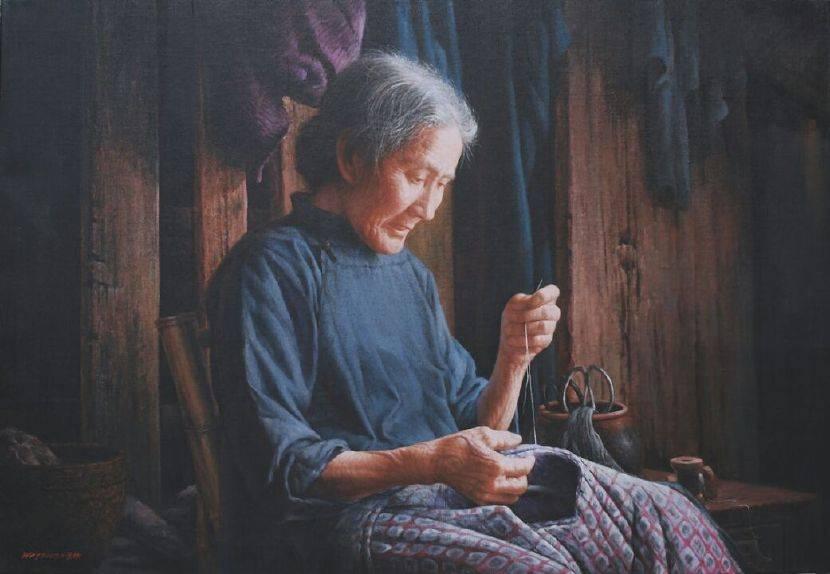 魏榮欣-補衣的老婦
