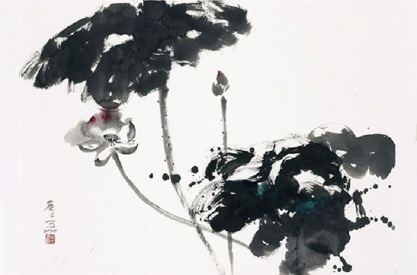 塵三-墨荷 Ink Lotus