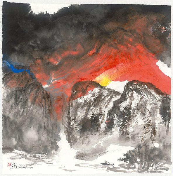 塵三-半江霞紅 Red Clouds Reflected on Half of The River