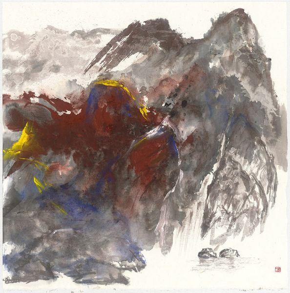 塵三-緇朱郁水 Red Black Mountain and  Slow Water