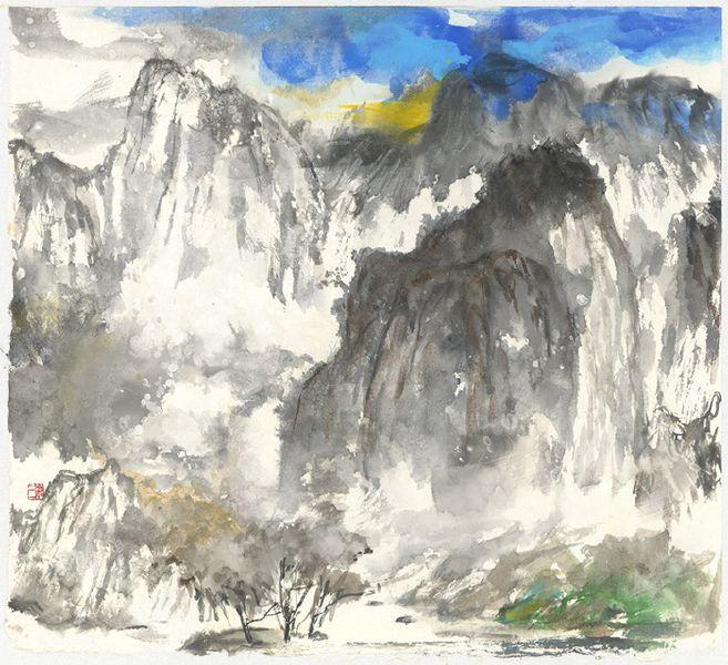 塵三-村廓遠山 Village in The Distant Mountains