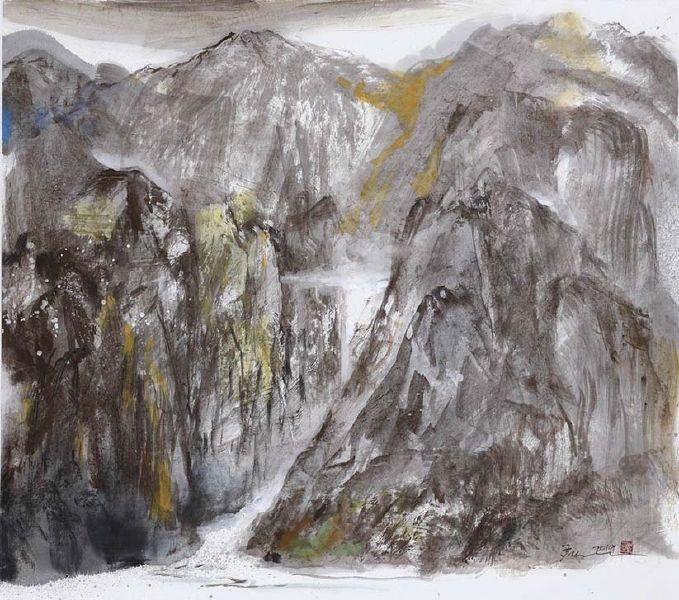 塵三-澗洩Mountain Stream Flows