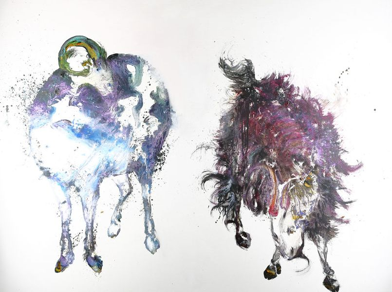 堉泉-摹古系列 No.1 趙孟頫 二羊圖Echo Series No.1 Zhao Mengfu-Sheep and Goat