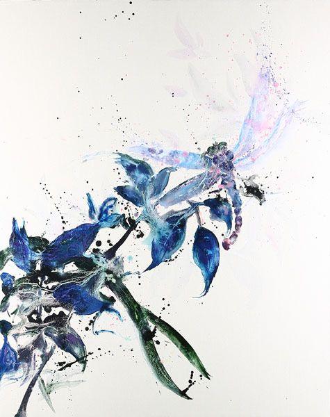 堉泉-摹古系列 No.2 徐熙 豆花蜻蜓圖 Echo Series No.2 Xu Xi-Dragonfly and Bean Flowers