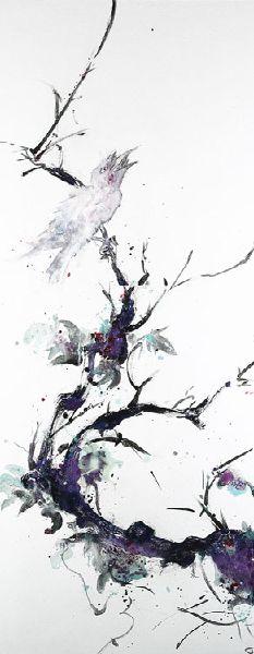堉泉-摹古系列 No.5 唐伯虎 枯槎鸜鵒圖Echo Series No.5 Tang Bohu-Mynah Bird on Withered Hawthorne