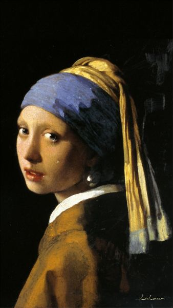 李二男-戴珍珠耳環的少女  Girl with a pearl earring