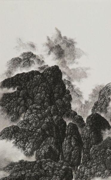 夏一夫-直立山景之二 Precipitous Mountain Scene Ⅱ