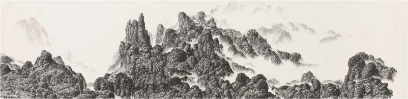 夏一夫-雲山清遠 Drifting is the cloud, or the mountains?