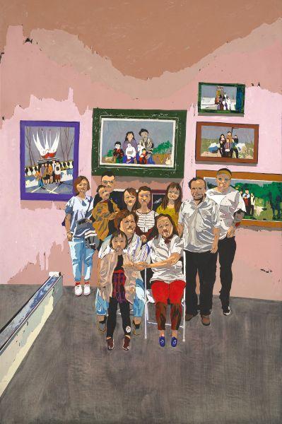 張書毓-在台北藝術博覽會媽說想拍張全家福