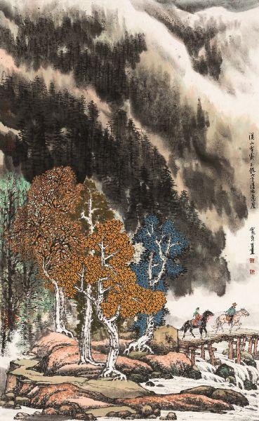 鄭百重-溪山雪霽