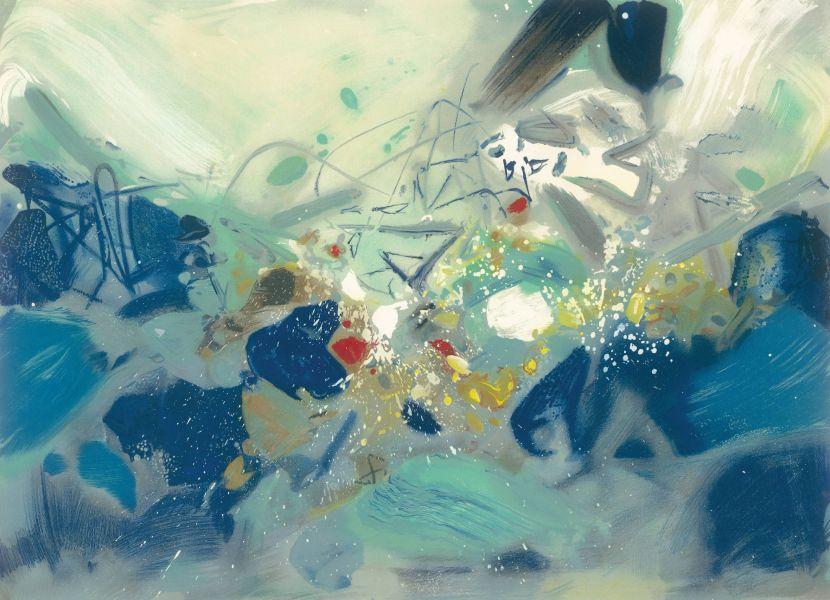 朱德群-藍色波動