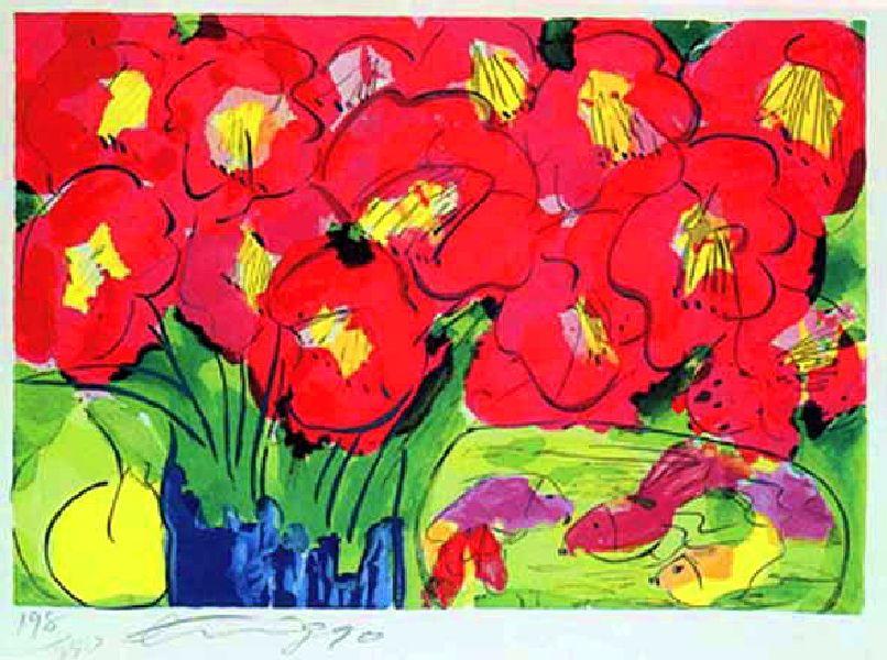 丁雄泉-紅花