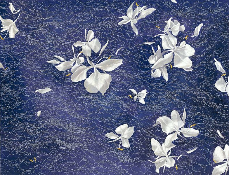 鄭麗雲-野薑花系列之二 - 5 Ginger Lilies II-5
