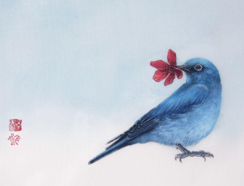 鄭宜欣-櫻花鳥