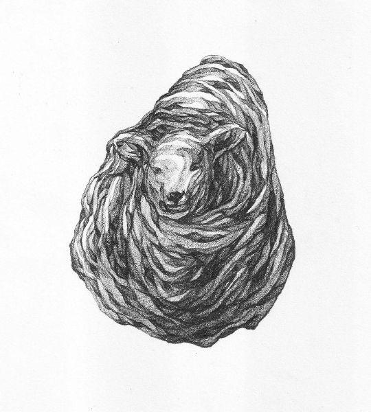 謝宗玲-畫石-似羊化石