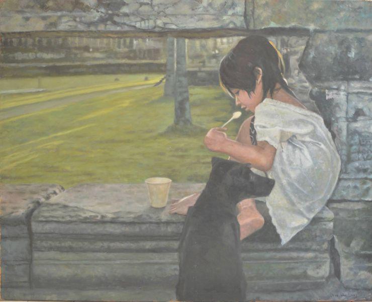 朱威龍-貧窮的柬埔寨小女孩