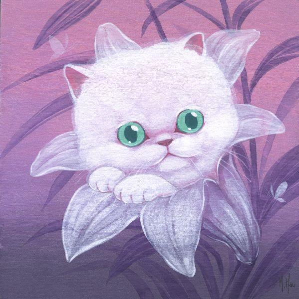 徐鈺樺 -White Cat and Lily 小白貓