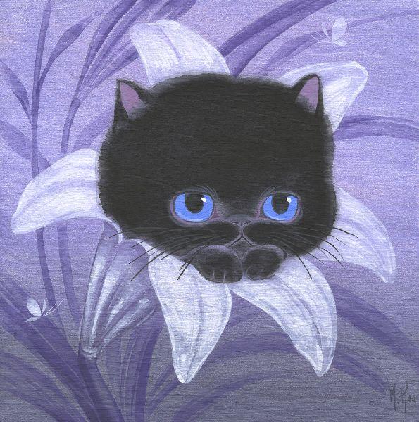 徐鈺樺 -Black Cat and Lily 小黑貓