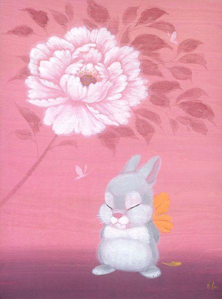 徐鈺樺 -牡丹與小花兔