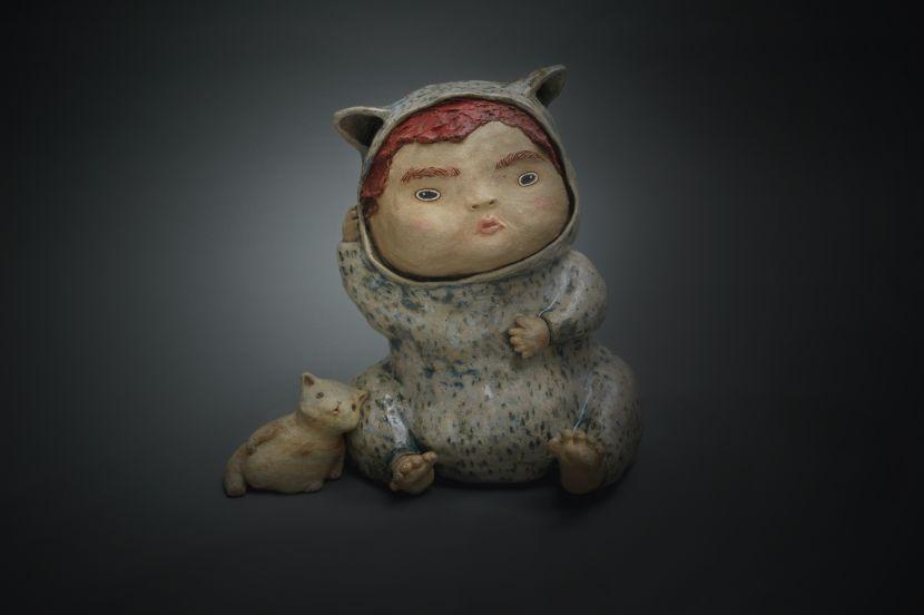 白昱軒-「放空當貓系列」 思考中