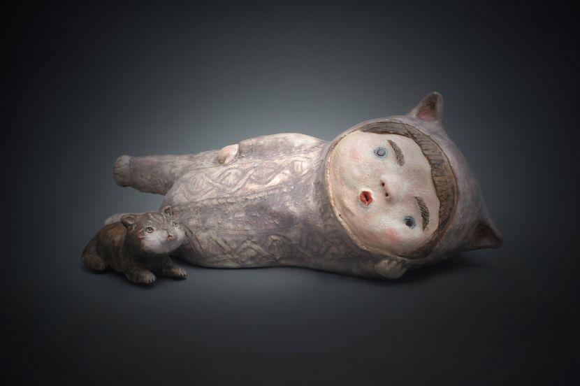 白昱軒-「放空當貓系列」 側躺放空吧