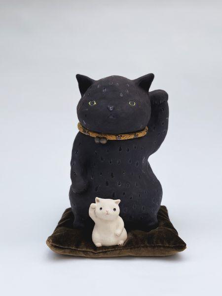 白昱軒-黑-招財貓