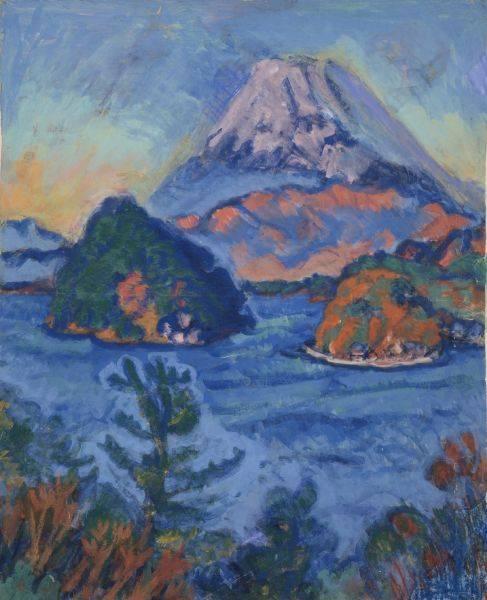 梅原龍三郎-Mt. Fuji