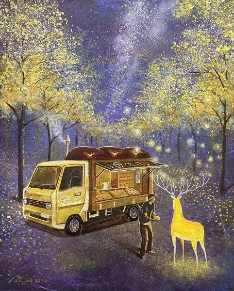 海至-光鹿與黃花風鈴木