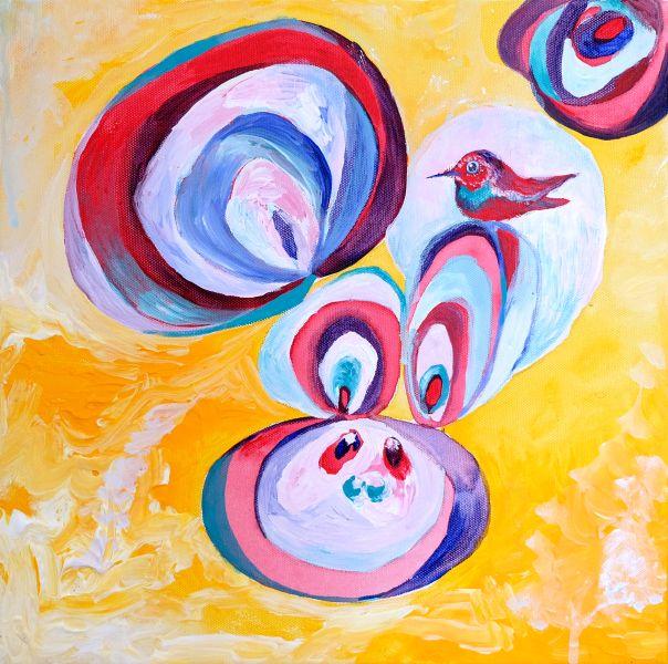 徐慧蘭-陽光兔跟彩色鳥