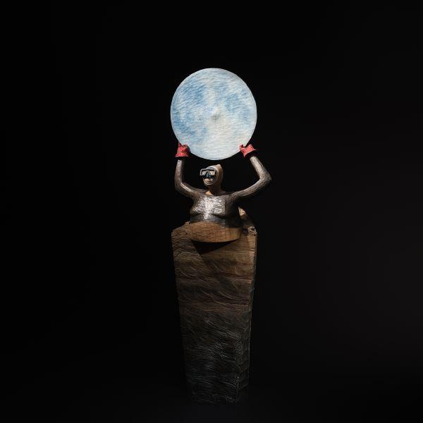 張士飛-湖中散記–彼月