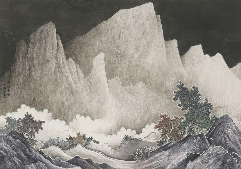 吳弘鈞-仙山系列-層巒疊嶂