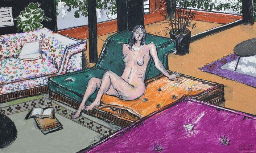 紀福堂-沙發上的女人 Woman on the sofa
