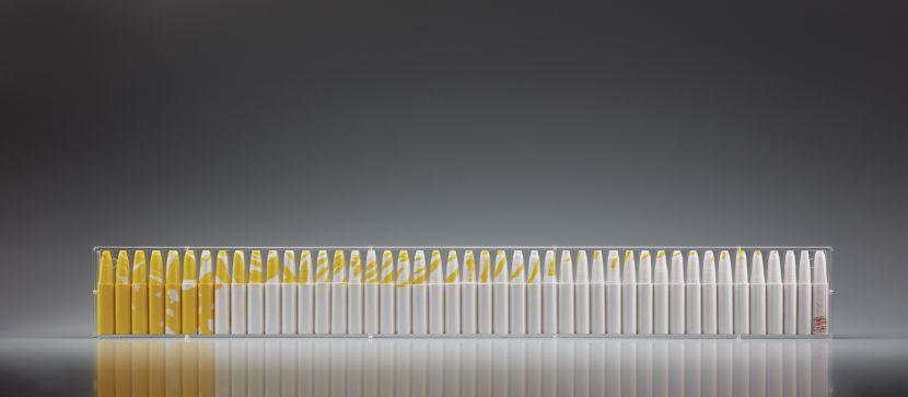 張永村-水墨裝置(黃白2)