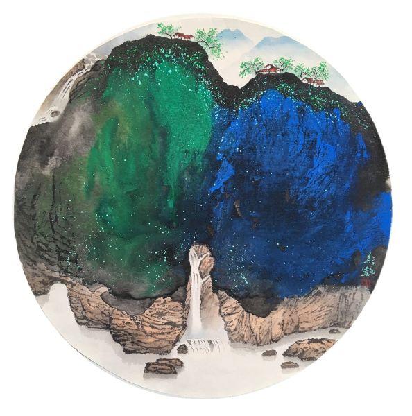 廖美蘭-碧藍如黛Azure Mountain
