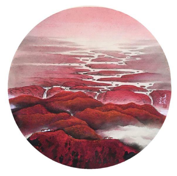 廖美蘭-深秋映山紅 Autumn Red
